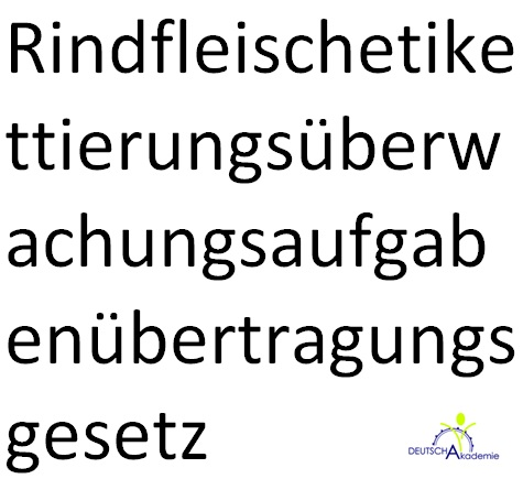Longest German Word  Letters