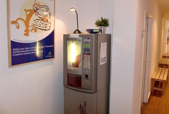 Sprachschule Berlin Kaffeemaschine