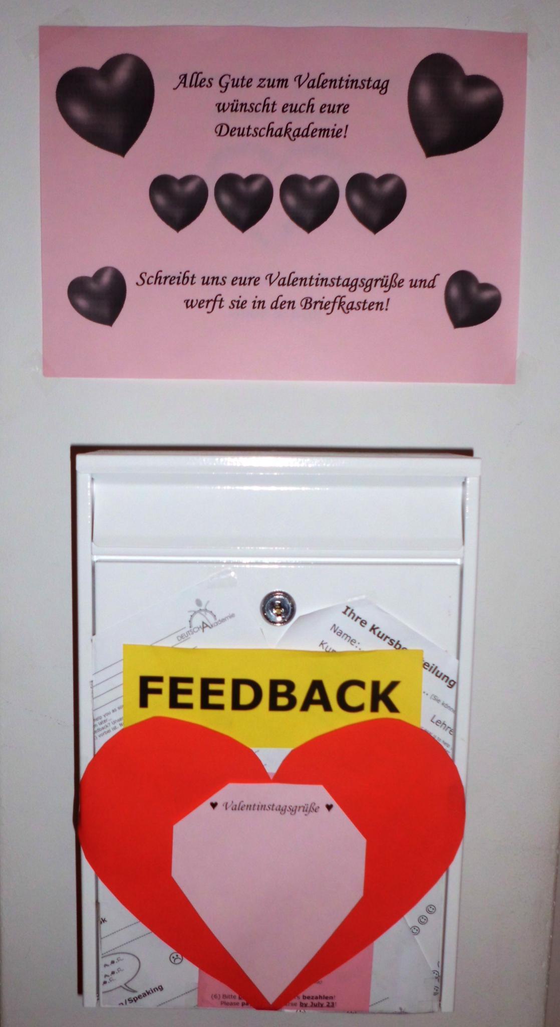 DeutschAkademie Wünscht Allen Einen Frohen Valentinstag! DeutschAkademie  Wishes You All A Happy Valentineu0027s Day!