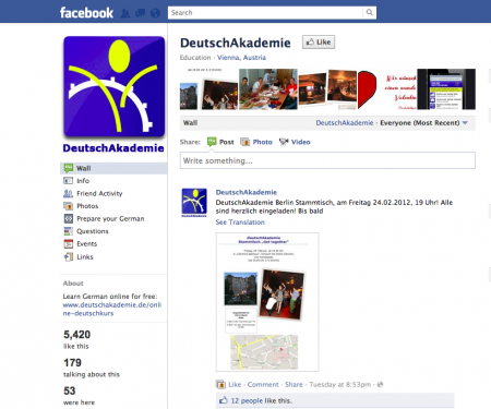 February 2012 Deutschkurs Blog M 252 Nchen